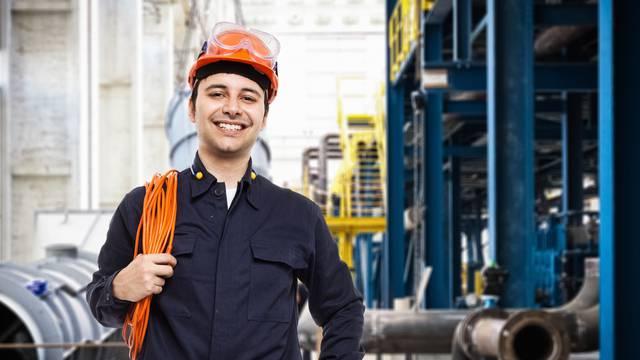 Portrait of worker in a factory