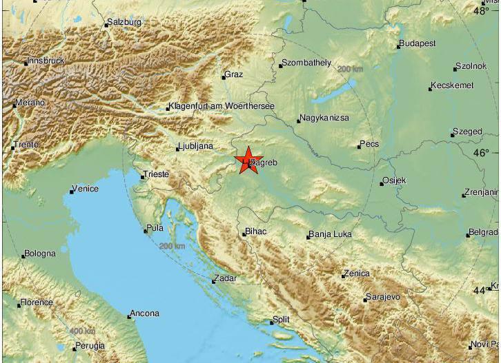 Opet potres: Magnituda 2,4