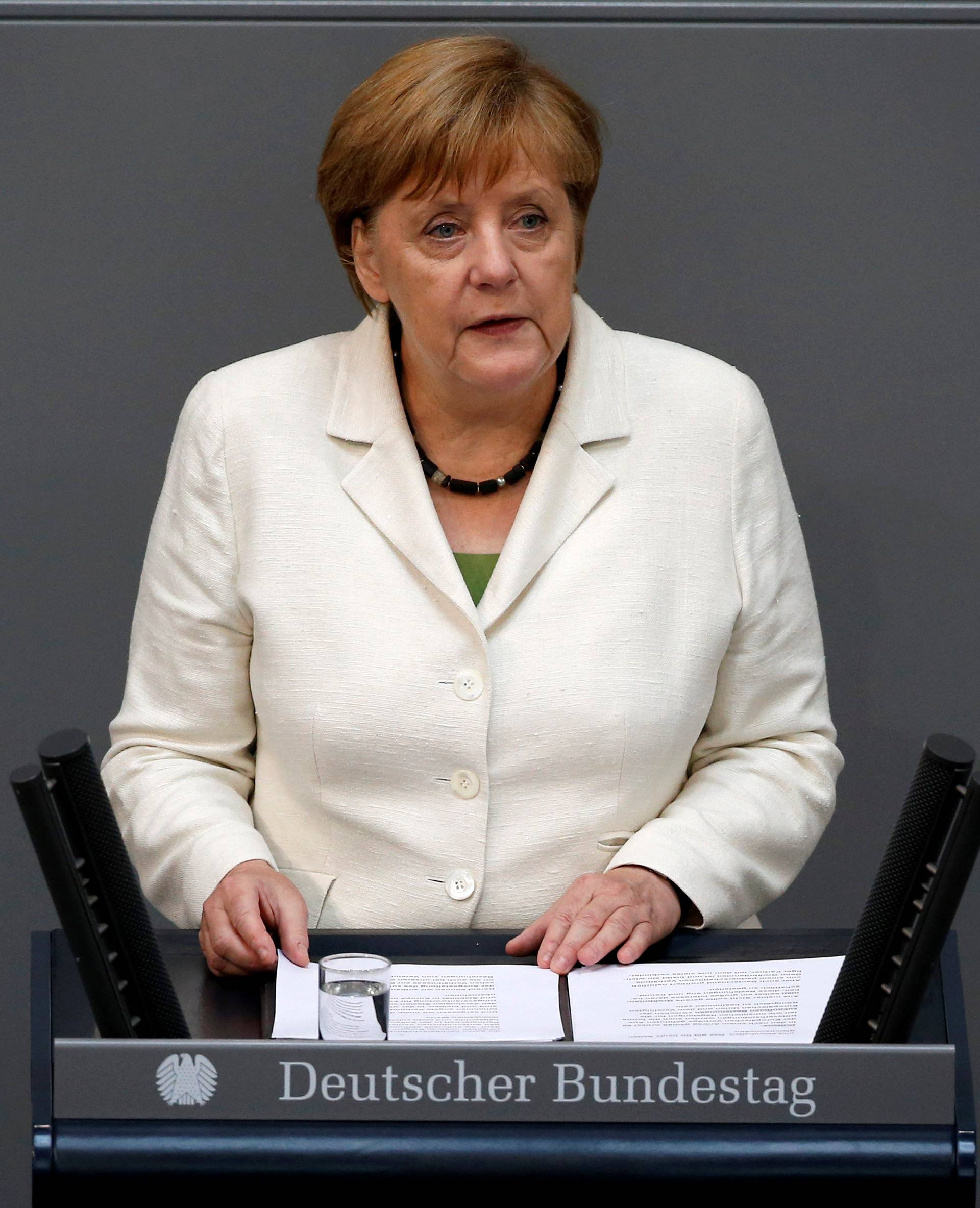 German Chancellor Merkel delivers a government declaration on the consequences of the Brexit vote at the lower house of parliament Bundestag in Berlin