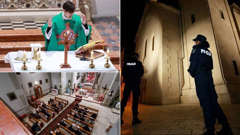 Misa nakon tragedije u Splitu, ispred crkve dežurala policija