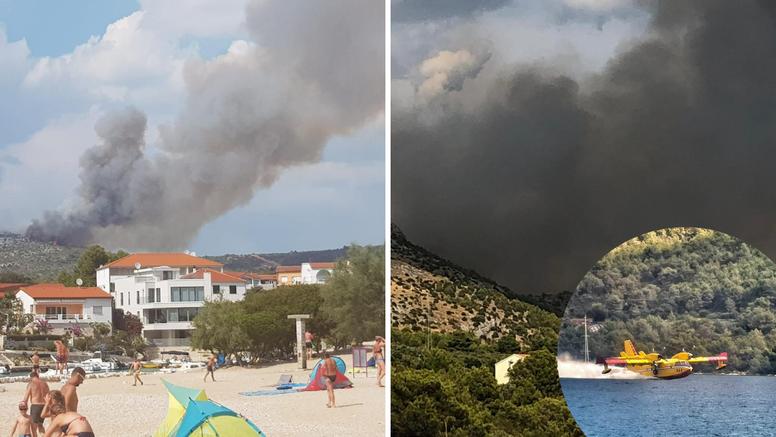 Veliki požar u Dalmaciji: Gorilo je od Primoštena do Rogoznice