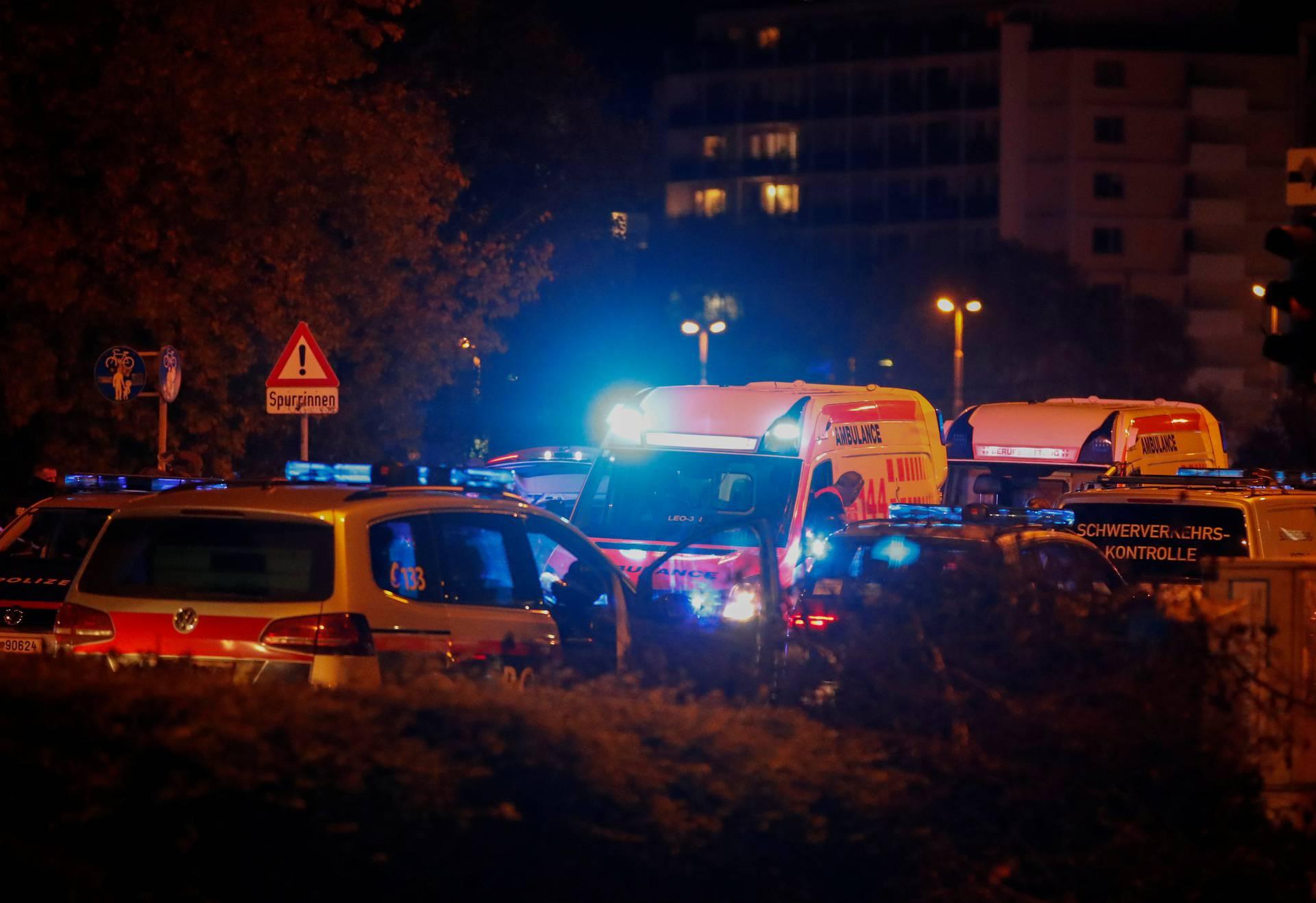 Gunfire exchanges in Vienna