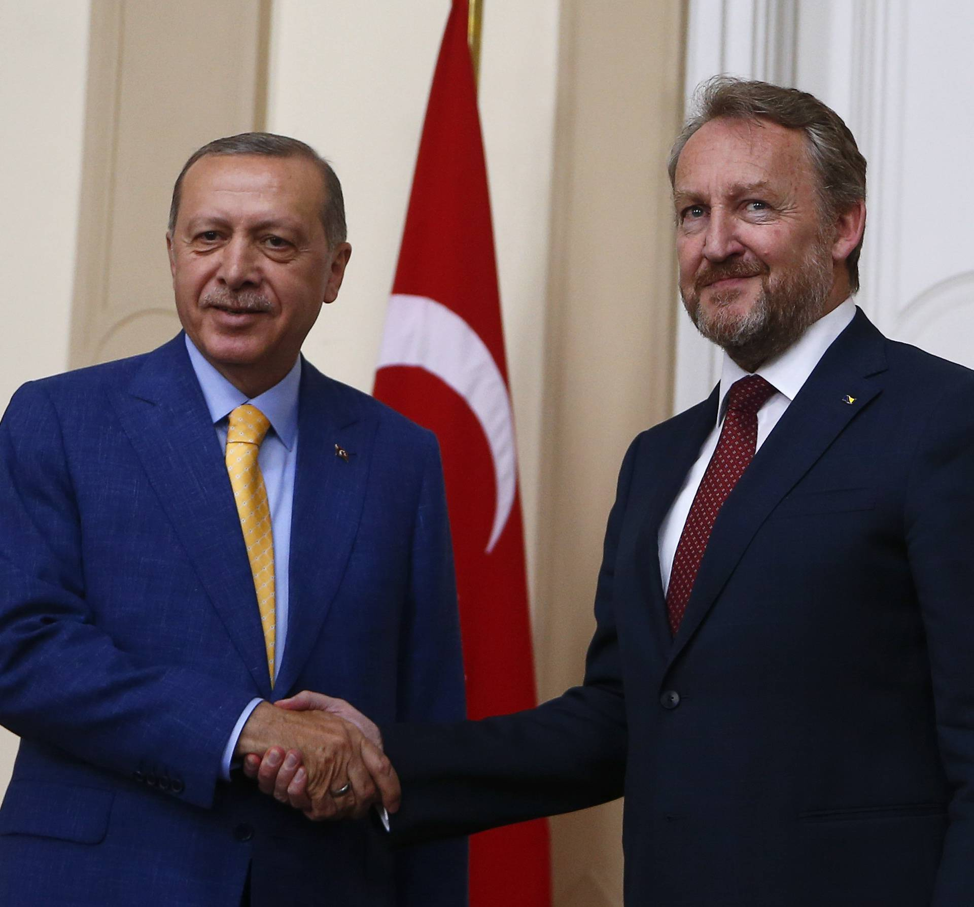 Turkish President Erdogan meets with Chairman of the Tripartite Presidency of Bosnia and Herzegovina Izetbegovic in Sarajevo