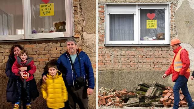 Medvjedići i dječje 'Hvala' ljudima koji spašavaju Petrinju