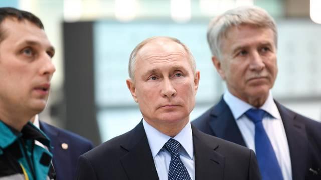 Russian President Putin visits ZapSibNefteKhim plant in Tobolsk