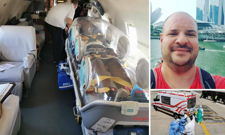 Splićanin Goran je leteći borac protiv korona virusa: 'Pacijente prevozimo u izolacijskoj kapsuli'