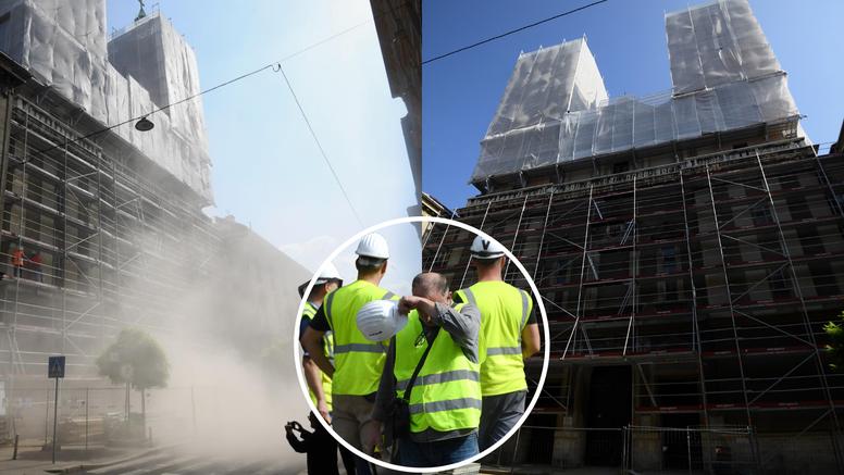 VIDEO Eksplozija u centru Zagreba: Stručnjaci srušili krov bazilike u Palmotićevoj ulici