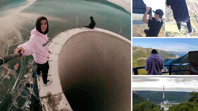 Suludo i opasno! Britanca koji je visio s 340-metarske elektrane je snimao prijatelj iz Hrvatske...