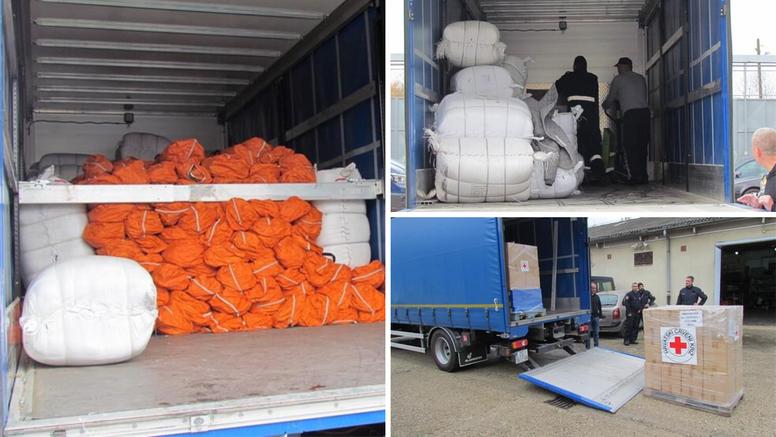 Hrvatski kamioni nose šatore i pokrivače za pomoć Albaniji