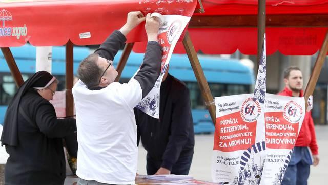 """Zagreb: Časne sestre dali svoj potpis za referendum """"67 je previše"""""""