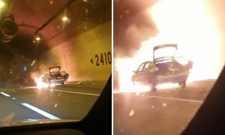 Auto eksplodirao u Sv. Roku: 'Snimili smo ga kad je grunuo'