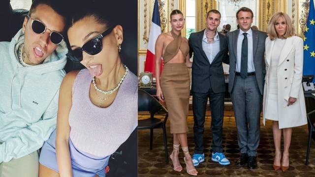 Justin i Hailey Bieber posjetili su francuskog predsjednika, fanovi ih napali zbog 'outfita'