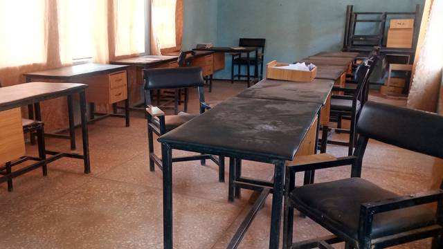 A view of a classroom at the Government Science secondary school in Kankara district