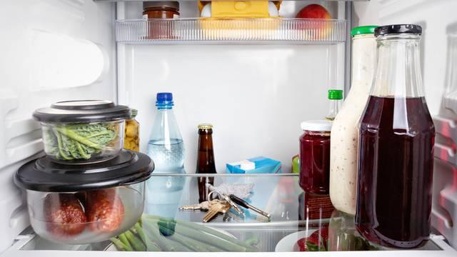 Keys misplaced in a fridge