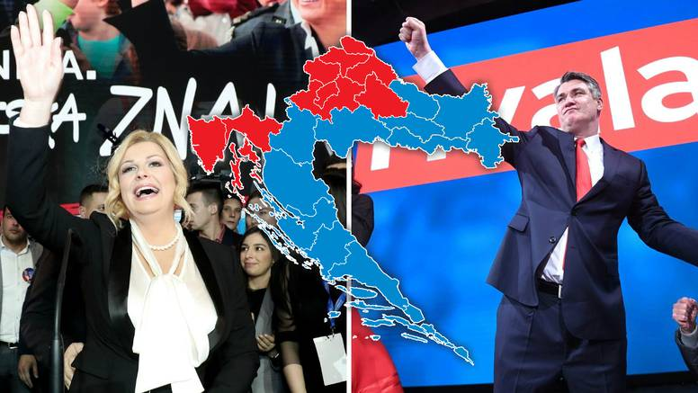 Konačni rezultati: Kolindi 12 županija, ali ide s Pantovčaka