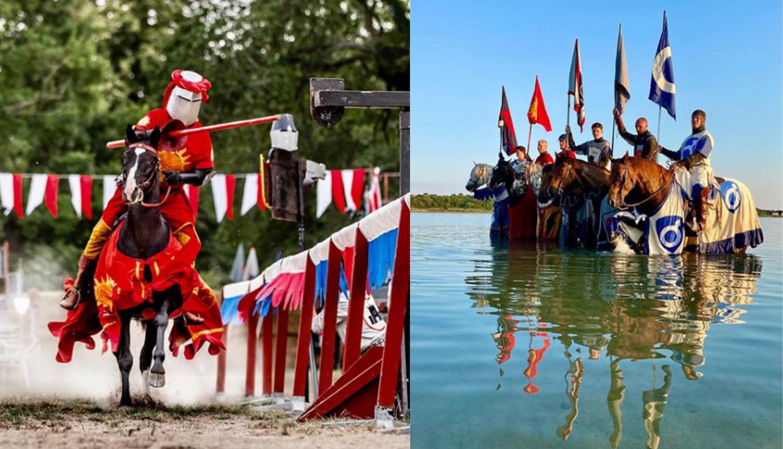 Na Gotlandu vitezovi podsjećaju turiste da se zaštite od korone
