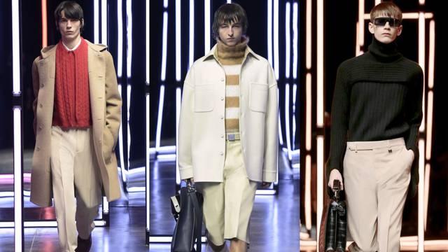 Nova Fendi kolekcija: Fini dečki u bež kaputu i sivom odijelu