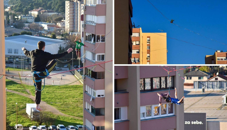 'Nebeski hodači' u Puli: Šetali između nebodera na 30 metara
