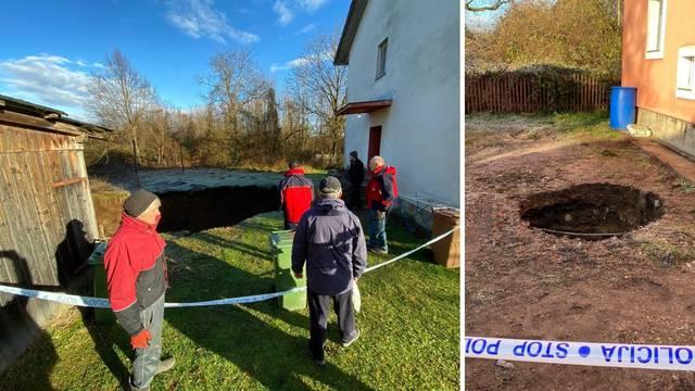 'Nešto je pucketalo i pojavila se golema rupa kraj moje kuće!'