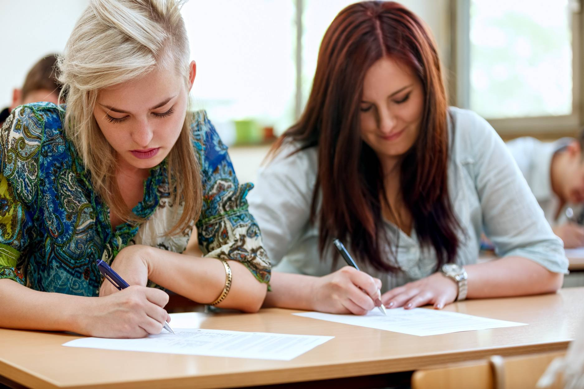 students taking  exam at the university