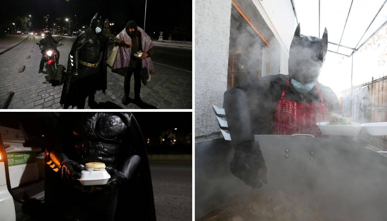 Neznanac prerušen u Batmana kuha beskućnicima u Santiagu
