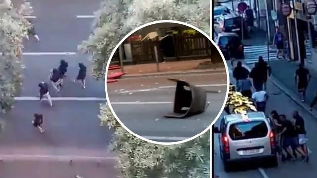 VIDEO Žestoka tučnjava Torcide i Armade u Rijeci: 'Bilo je krvi posvuda, mlatili su se na cesti'