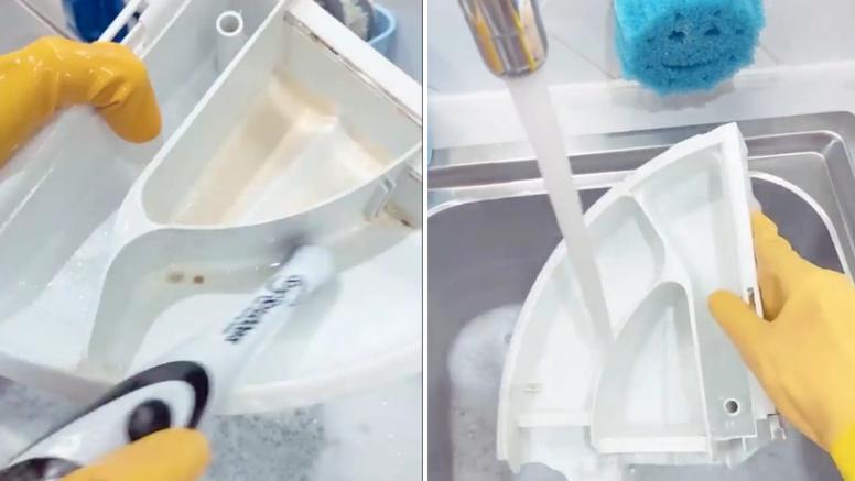 Otkrila genijalan trik za čišćenje pretinca u koji ide prašak za veš
