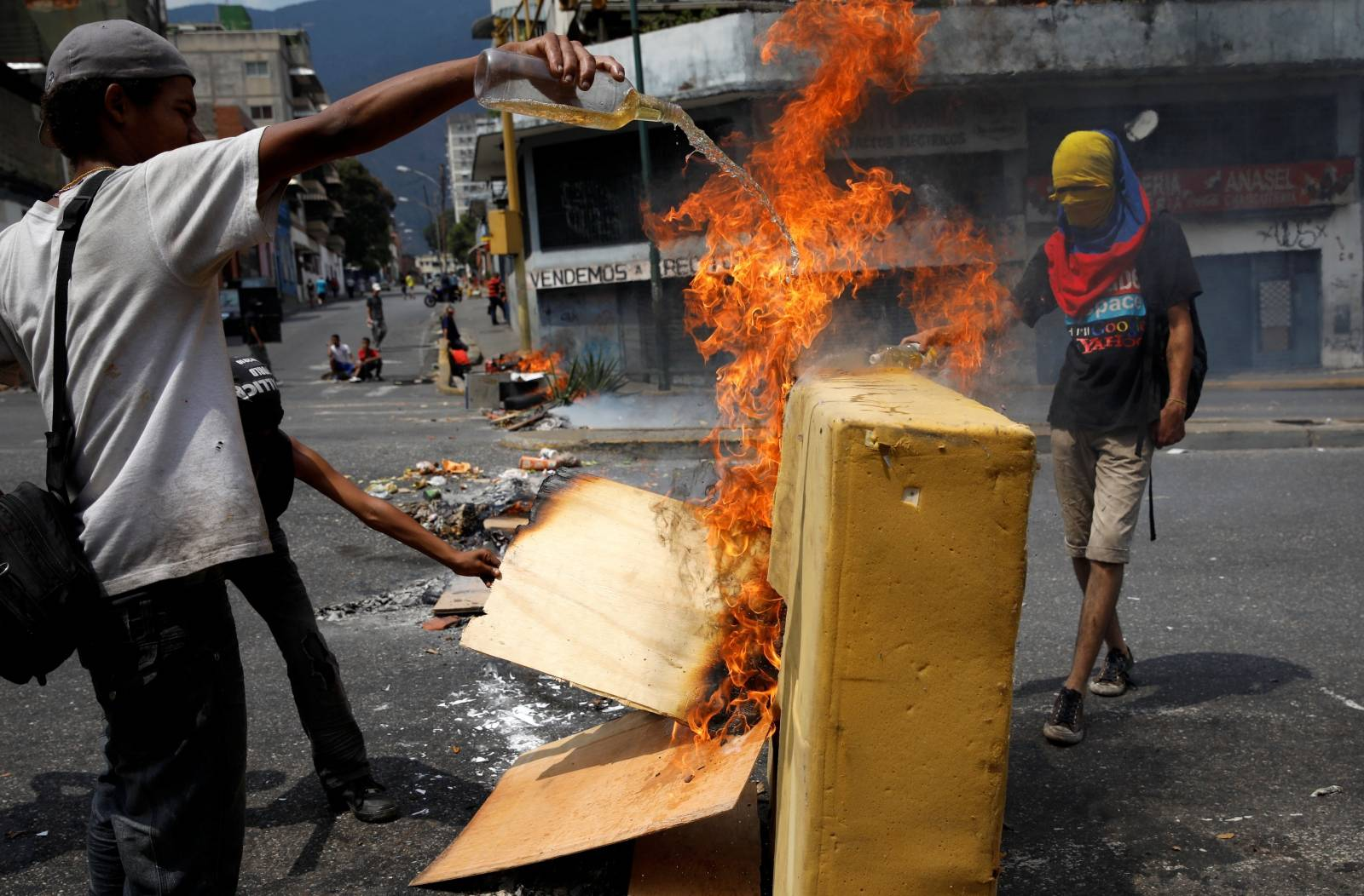 Anti-Maduro government protest in Caracas