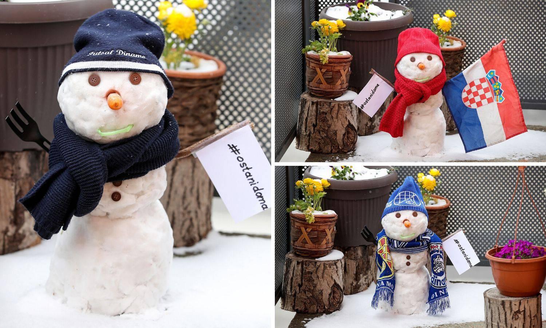 Prekrasno: Snjegović s balkona šalje poruku - ostani doma...