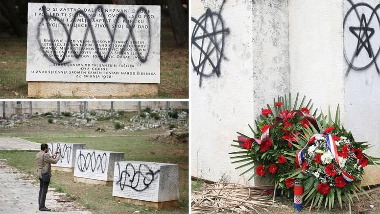 Sramota u Šibeniku! Išarali su spomenike antifašistima...