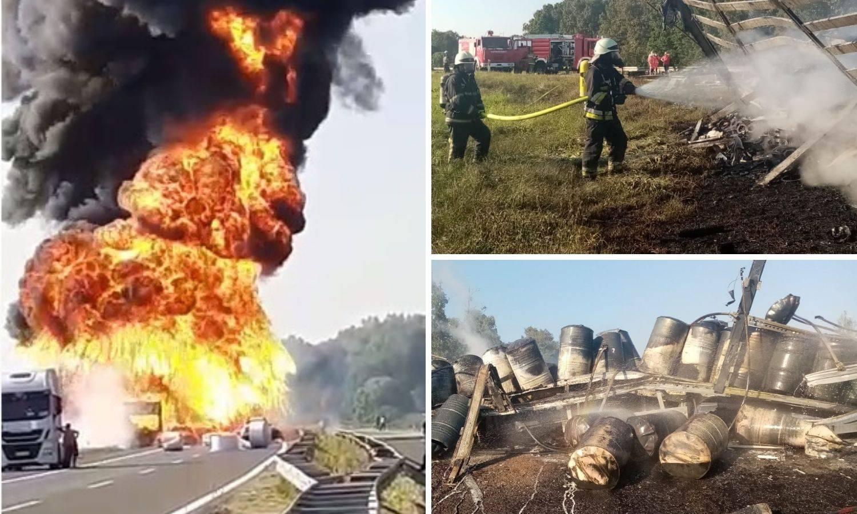 U sudaru pet vozila kod Ježeva poginuli su vozači dva kamiona