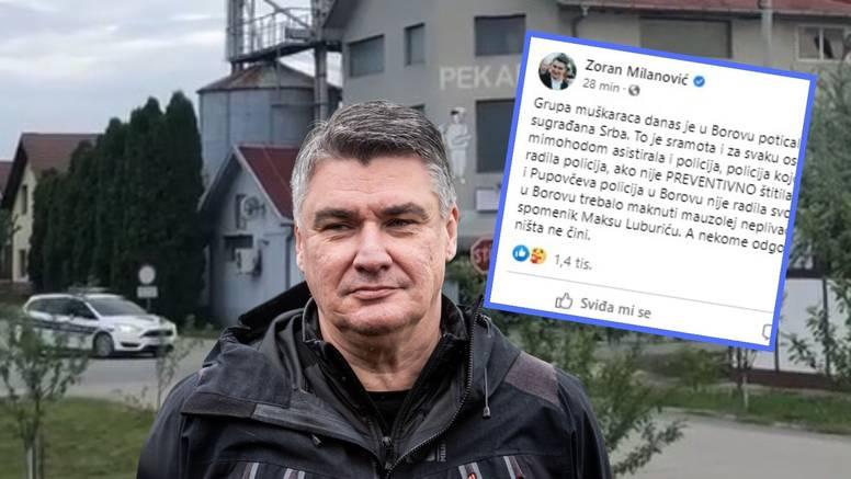 Milanović o incidentu u Borovu: Gnjusno! Ali što radi Pupovčeva i Plenkovićeva policija tamo?