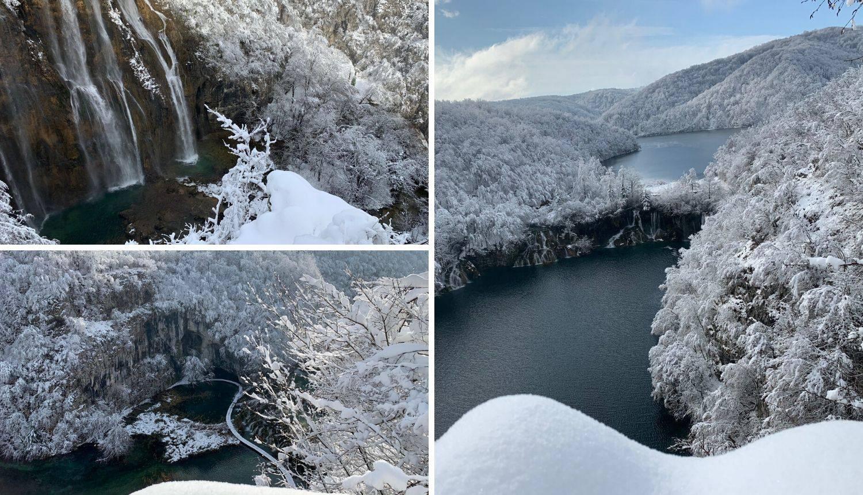 Snježna čarolija na Plitvicama: Palo je 20 centimetara snijega