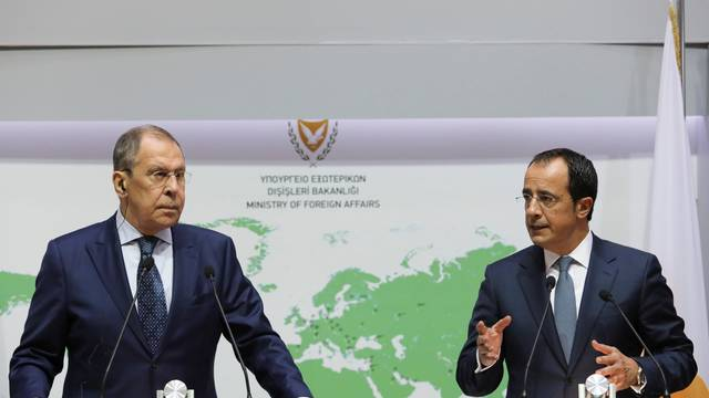 Russia's Lavrov meets Cypriot FM Christodoulides in Nicosia