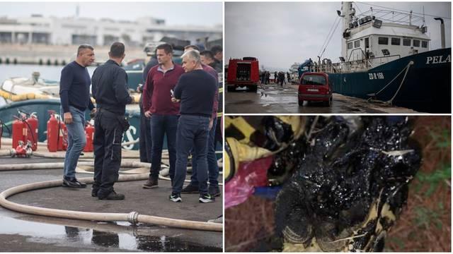 Gorio brod generala Gotovine u Gaženici:  Prije toga, vatrogasci spašavali psa iz bazena mazuta