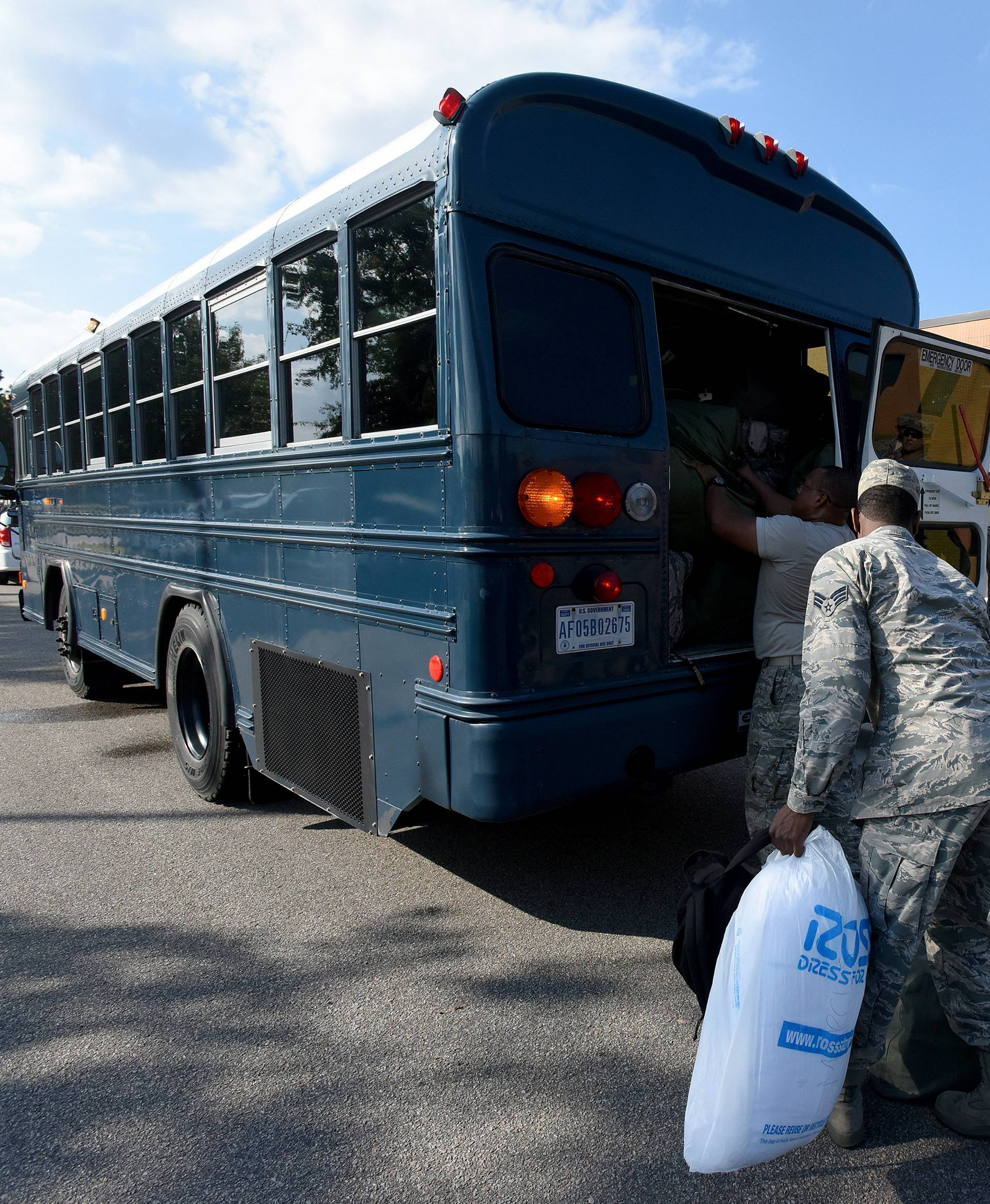 U.S. Airmen from the South Carolina Air National Guard and 169th Fighter Wing prepare to deploy to support rescue efforts in advance of Hurricane Florence