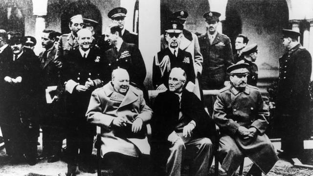 Konferenz von Jalta / Gruppenbild