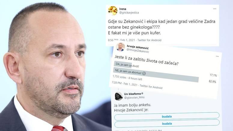 Taman im je legao: Zekanović na Twitteru objavio anketu oko pobačaja, a ovo ga je dočekalo
