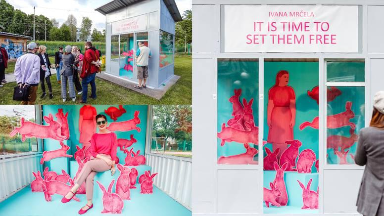 Umjetnica Ivana Mrčela pustit će na slobodu ružičaste zečeve