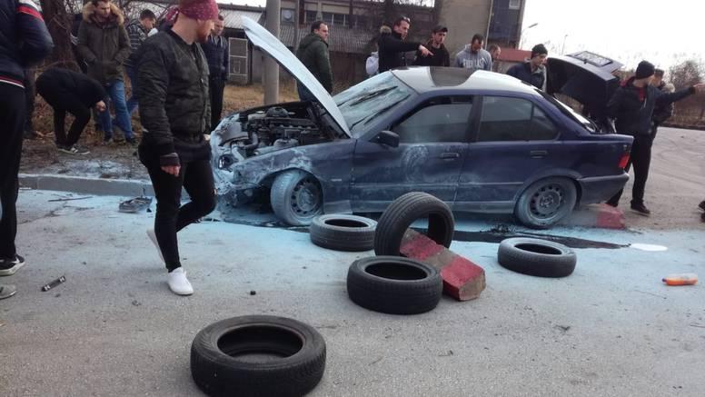 Utrka strave u Zagrebu! Jurio u BMW-u i zabio se u publiku