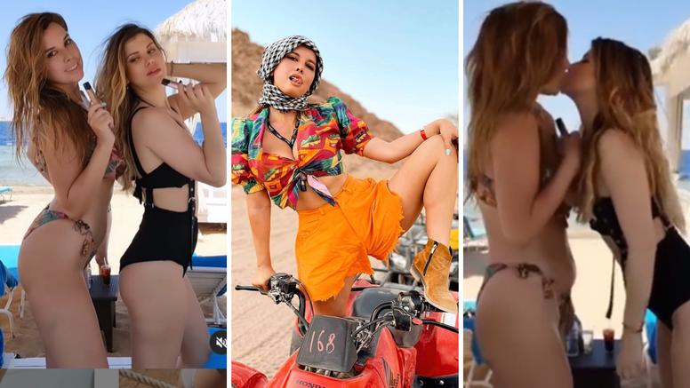Nives i Ecija ljube se na plaži, a njihovi  obožavatelji padaju na koljena: 'One su bombe! Mrak!'