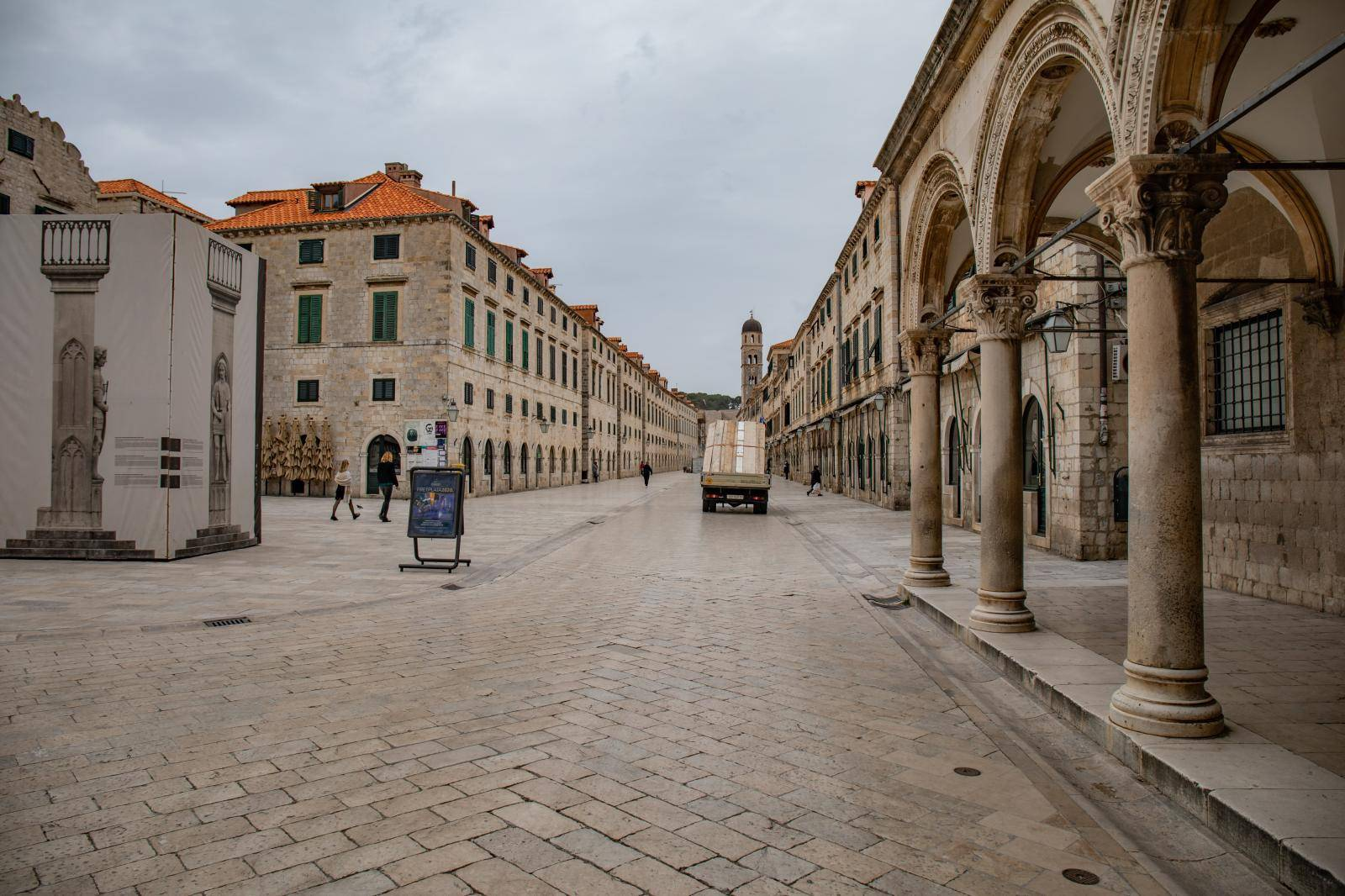 Oblačno vrijeme u Dubrovniku