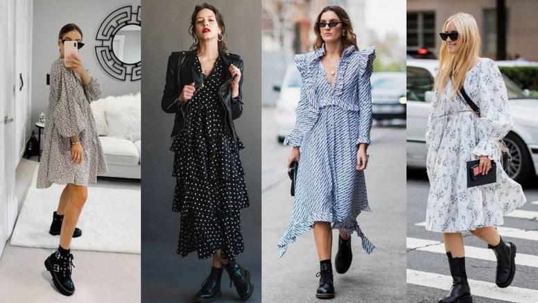 Spoj jeseni i ljeta: Stilska igra haljine i crnih grunge čizama