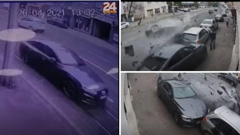 VIDEO Pogledajte jureći Audi prije sudara u Dubravi: Letio je kao metak po tračnicama