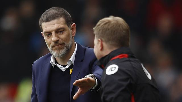 Bournemouth manager Eddie Howe and West Ham United manager Slaven Bilic