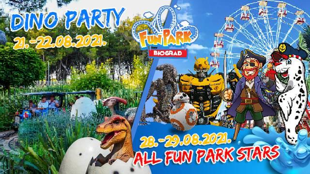 Za kraj 8 mjeseca Dino Party i All Fun Park Stars u Fun Parku Biograd-jer ste vi to tražili!
