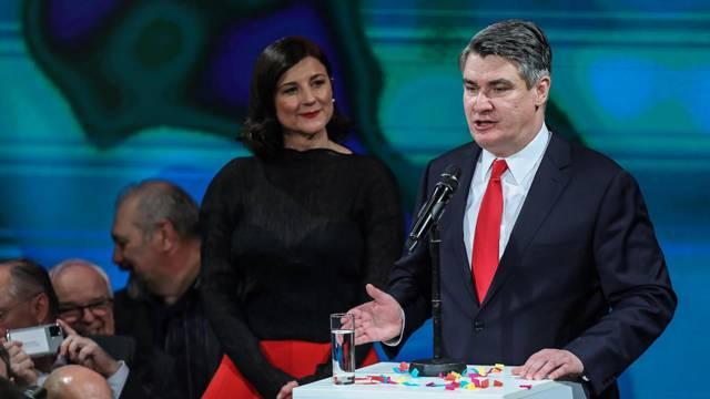 Zagreb: Novi hrvatski predsjednik, Zoran Milanović, održao govor