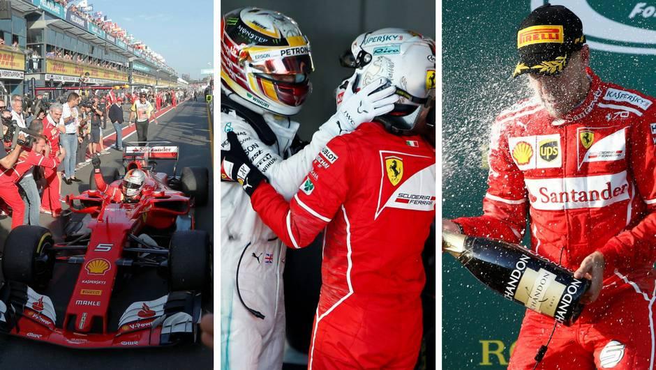Ferrari se vratio! Vettel pomeo Hamiltona u prvoj utrci sezone