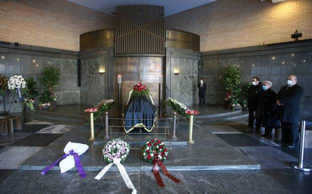 Sprovod Laze Goluže na zagrebačkom Krematoriju