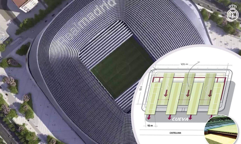 Svemirski Bernabéu: Teren će se izvući i čuvati u stakleniku